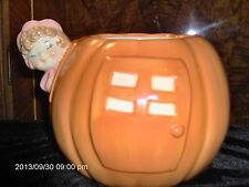 TREASURE CRAFT PETER PUMPKIN EATER COOKIE JAR(.AS IS) NO LID BUT EXCELLENT COND.