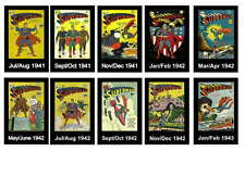 SUPERMAN COMIC PHOTO-FRIDGE MAGNET SET 2-ISSUES 1941-43