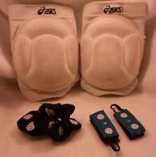 5pc Volleyball Set 2 aasics Knee Pads plus 1 Hair and 2 T-Shirt Scrunchies