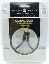 WireWorld Ultraviolet 6 USB A-B 0.3 meter 1 foot USB cable Wire World
