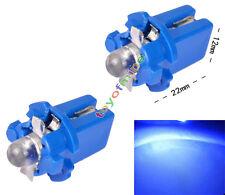 Gauge 2X T5 LED del coche Speedo Dashboard Dash cuña lateral Bombilla azul 12V