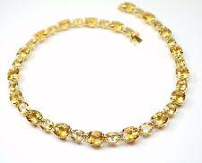 18Carat Yellow Gold Unique Brazilian Citrine Necklace & Matching Bracelet