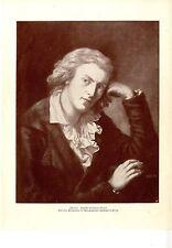 Schiller-Portrait après un tableau de Anton Graff historique pression 1905