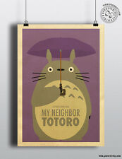 MY NEIGHBOR TOTORO - Minimalist Studio Ghibli Movie Poster Minimal Posteritty