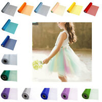 25m X 29cm Organza Roll Sheer Fabric Wedding Party Decor Chair Bows Table Runner