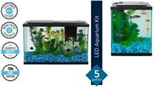 Fish Tank LED Light Aquarium Starter Kit 5-Gallon Aqua Pet Equipment Supplies US