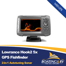 Lowrance Hook2 5x GPS Splitshot Fishfinder With Transducer | Hook2 5x Sounder