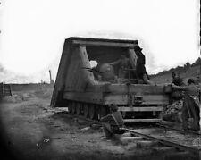 New 8x10 Civil War Photo: Railroad Gun & Crew on Track Near Petersburg
