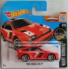 Hot Wheels 2016 85 of 250 1985 Honda CR-X New & Carded Hotwheels Night Burnerz