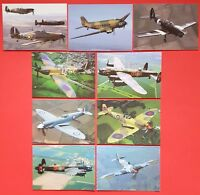 Set of 9 New Postcards RAF Battle of Britain Memorial Flight,Hurricane, Spitfire