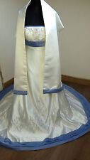 Mori Lee Designer Bridal Wedding Dress Ivory & Blue Size 14