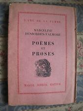 1928 Poèmes et Proses Desbordes-Valmore Exemplaire N°  Bibliophilie