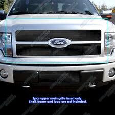 APS 2009-2011 Ford F-150 Platinum Black Billet Grille Grill Insert 2010