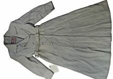 GENUINE LAMB LEATHER TRENCH COAT LINED MADE IN TURKEY, SIZE M, GRAY, MSRP $969