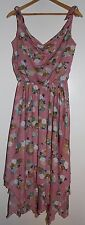 Vintage 70's-80's Pink Chiffon Handkerchief Sleeveless Summer Dress Small/Medium