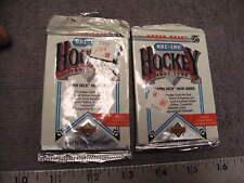 New 1991-1992 UPPER DECK NHL LNH HOCKEY 2 sealed packs