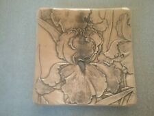 "Wendell August, Handmade Solid Bronze, Iris dish 5"" x 5"", Made in Grove City, PA"