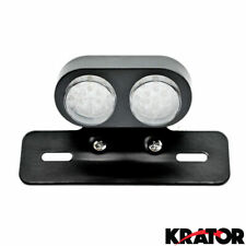 LED MOTORCYCLE BRAKE TAIL SIGNAL LIGHT INTEGRATED PLATE LIGHT BLACK TAILLIGHT