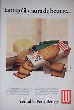 PUBLICITÉ 1979 VÉRITABLE PETIT BEURRE LU - ADVERTISING
