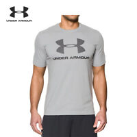 Under Armour UA mens Charged Cotton Sports T-shirt short sleeves Grey UK size XL