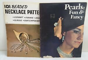 2 Vntg JEWELRY Patterns Books 101BEADED NECKLACE + PEARL FUN FANCY