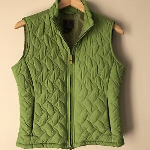 Royal Robbins Womens Quilted Vest Medium Green Pear Packable Puffer Travel