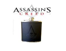 Assassin's Creed - 6oz Stainless Steel Faux Leather Flask Drinking Whiskey