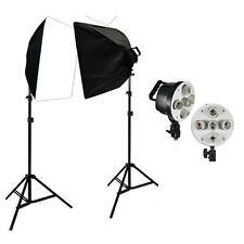 Photography Studio 2250W 5 Socket Softbox Continuous Lighting Lightstand Kit AU