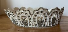 Vintage Wedding Bridal Headpiece with Beads and Rhinestones - 1950's