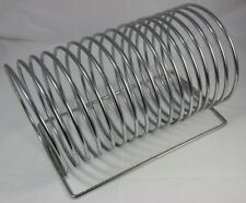 Vintage Metal Coil / Spring Record Magazine Rack Possibly Danish