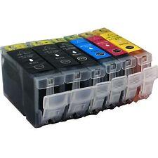 6 Druckerpatronen für Canon IP 4000 P ohne Chip