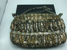 Classic Vintage Gold Mesh Handbag w/ Chain handle