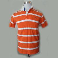 POLO Ralph Lauren Men's Size S Short Sleeve Polo Shirt Orange Stripes quilted sh