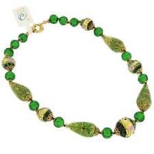 GlassOfVenice Murano Glass Necklace Carnivale di Venezia - Emerald
