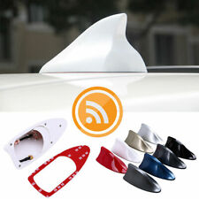 White Car SUV Roof Shark Fin Antenna Radio Signal AM FM Aerials For VW BMW HOT
