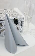 50 Mank Linclass Linen Feel Paper Napkins 40 x 40cm - Silver