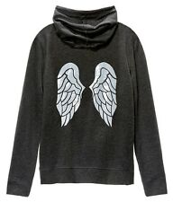 NWT Victorias Secret Sequin Angel Wing Bling Supermodel Hoodie Jacket Grey L