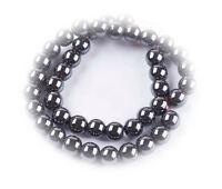2634 10  Hämatit Perlen Muschel Rund Schwarz Beads nicht Magnetisch Silber