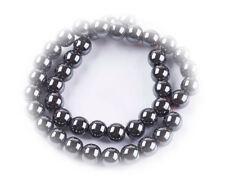 NELLYS Hämatit glänzend dunkelgrau 4-12mm Strang Perlen Edelsteine