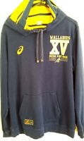 Wallabies Asics Rugby Union Hooded Jumper Large Vintage 1999 XV Excellent
