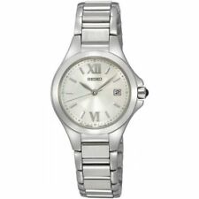 New Seiko SXDC13 Women's Watch with Roman Numerals and Stainless Steel 50M