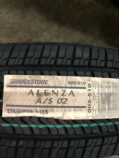 4 New 275 60 20 Bridgestone Dueler Alenza A/S 02 Tires