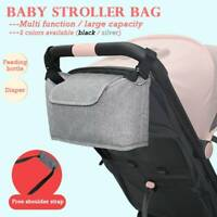 UK Baby Stroller Pram Pushchair Bag Mummy Organiser Holder Bottle Cup Buggy