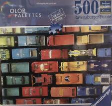 Ravensburger Color Pallettes Matchbox Palette 500 Piece Puzzle Old Vintage Cars