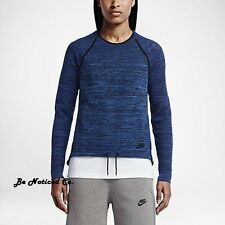 Nike Tech Knit Crew Women's Top XL Blue Gym Casual Training Running New