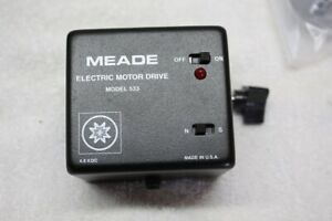 "Meade Telescope 533 RA Drive Motor Modified as a 531 to fit 1/2"" shaft EQ Mounts"