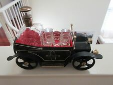 "Liquor Car , Decanter , Glasses , Music Box , ""How Dry I Am"" ,Vintage Bar Car"