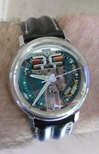 Vintage Accutron Spaceview 1966 Stainless Steel Case Ref 2446 - Serviced