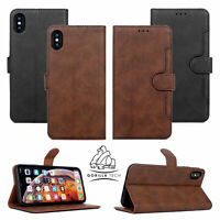 Real Leather Wallet Flip Card Slot Case Cover For iPhone SE 11 11 Pro 11 Pro Max