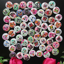 DIY 50 Pcs 15mm Mixed OWL Wooden Buttons 2 Holes Sewing Scrapbooking Crafts